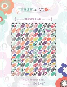 We're so excited for you to try this FREE Tesselation quilt pattern using Geometric Bliss by Jeni Baker | Art Gallery Fabrics #geometricblissfabrics #jenibaker #moderquilt #quilt #freequilt #ArtGalleryFabrics #WeAreFabrics #design #pattern #sew #diy #free