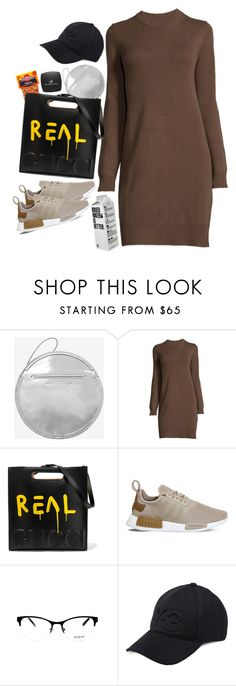 """""""Where Do You Think You're Goin?"""" by pizzarolls ❤ liked on Polyvore featuring McQ by Alexander McQueen, Gucci, adidas, GUESS, Y-3, ELF Cosmetics, Fall and gucci"""