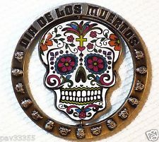 Day of the Dead Spinner - Black Nickel & Ant.Nickel - New Geocoin Unactivated