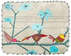 oiseaux par aliette sur Etsy