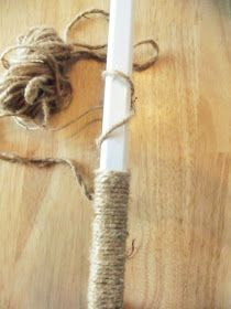 The Wicker House: Curtain rod project