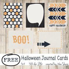 Scrapbooking TammyTags -- TT - Designer - Wee Share,  TT - Item - Journal Card, TT - Theme - Halloween