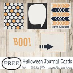 Scrapbooking TammyTags -- TT - Designer - Wee Share,  TT - Item - Journal Card, TT - Theme - Halloween
