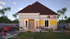 #Architecture #Nigerianbuildingdesigns #MastersTouchStudios #Homes #House #Nigeria #Beautiful #bungalow #Design #Exterior #Modern #HouseDesign #HomeDecor #HouseStyles #HouseExterior 2 Bedroom bungalow design. Minimum size of land is 50ft by 50ft. Contact +2348032582385, +2348174058017 (Calls and Whatsapp) E mail: Masterstouchstudios1@gmail.com Building Design, Entrance, Floor Plans, Lounge, Exterior, House Design, Bungalow Designs, Mansions, Architecture