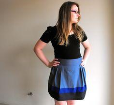 Scared Stitchless: Colourblock Skirt + Tutorial