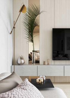 Tv Wall Panel, Home Theater Tv, Home And Living, Living Room, Home Tv, Interior Decorating, Interior Design, Small Apartments, Bedroom Apartment