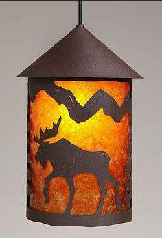 Cascade Lantern Moose Pendant