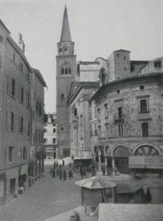 Immagine degli anni '30 del XX secolo: vista della casa della Cervetta prima dei…