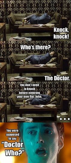 Dear Moffat, Can we please have a Doctor Who/Sherlock crossover please? All the best, The World