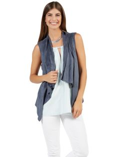 Paz Vest in Steel Blue