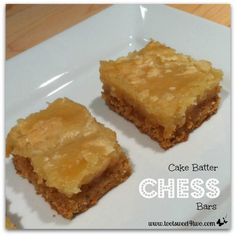 Cake Batter Chess Bars | This easy dessert recipe is made with a box of cake mix!