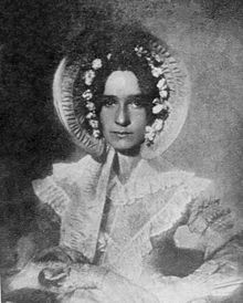 one of the oldest known photographic portraits.  Circa 1839.  Beautiful femine dress and hat....