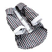 Lovely Checks Cropped Shirt for Pets Dogs (As... – USD $ 16.39
