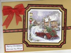 Hunkydory Topper for this Christmas across the miles card