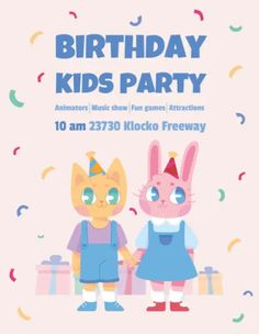 Download the Cute Kids Birthday Party Free Flyer Template! - Free Birthday Flyer, Free Flyer Templates - #FreeBirthdayFlyer, #FreeFlyerTemplates - #Birthday, #Cute, #Kids, #Party