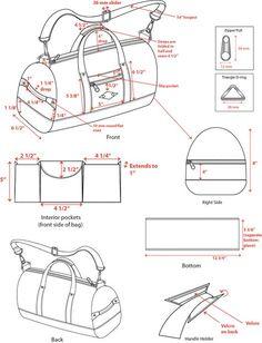 Crochet handbags 237635317825472970 - Trendy Sewing Wallet Tuto Sac Source by sylviegrugier Duffle Bag Patterns, Bag Patterns To Sew, Sewing Patterns, Clothes Patterns, Diy Bag Designs, Design Ideas, Design Design, Sacs Design, Leather Bag Pattern