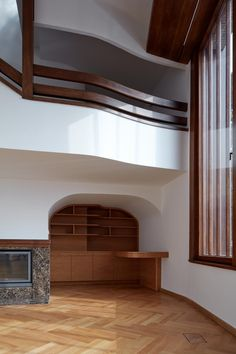 Images by BoysPlayNice. The villa was built in 1936 according to the design of a noted Czech architect Vladimír Grégr, grandson of a well-known journalist and politician. Interior Architecture, Two By Two, Villa, Stairs, House Design, Ship, Indian, Bed, Building