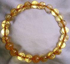 Citrin Heilstein Perlen Armband