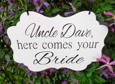 Personalized Here comes your bride Wood Sign by Nesedecor on Etsy, $28.00