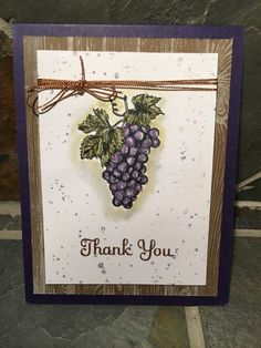 Tuscan Vineyard - Thank You - Stampin' Connection