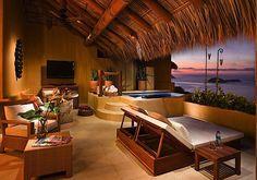 love the bed -    Capella Ixtapa, Mexico