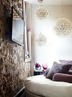 Contemporary Bedroom Pendant Lighting - Bedroom light fixtures are an essential consideration when you design the room that Contemporary Apartment, Eclectic Living Room, Living Room Pendant, Eclectic Loft, Chandelier In Living Room, Lamps Living Room, Bedroom Lighting Design, Home Decor, Vintage Living Room