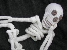 Realista Bona Fide esqueleto Crochet Patrón de por CraftyDebDesigns