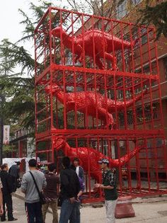 head to the 798 Art Zone in Beijing: see some unusual Chinese abstract art
