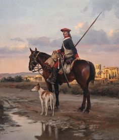 Lancero valenciano. Ejército Real de Aragón. Lancero del Primer Regimiento de Valencia del Ejército Carlista, en San Mateo (Castellón). 1838