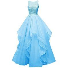 Asymmetric Long Evening Gown Prom Dress Beaded Bridesmaid Dress Custom Made Size Prom Girl Dresses, Prom Dresses 2016, A Line Prom Dresses, Ball Dresses, Ball Gowns, Prom Gowns, Long Dresses, Long Gowns, Bridesmaid Dresses