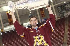 #Gophers alum and defenseman Nick Leddy with the Cup at Mariucci Arena.