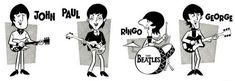The Beatles Cartoon Picture Coloring Pages Beatles Love, Beatles Art, Rock And Roll Bands, Rock N Roll Music, Rock Roll, Banda Beatles, Rhino Art, Rocket Power, Nostalgia