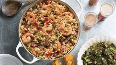 Shrimp and Andouille Jambalaya – Louisiana Cookin Garnelen und Andouille Jambalaya Creole Recipes, Cajun Recipes, Shrimp Recipes, Cajun Food, Haitian Recipes, Cajun Cooking, Donut Recipes, Louisiana Recipes, Southern Recipes