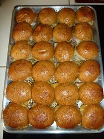 Funeral Sandwiches. The recipe has been around for years and years. Yes. They're THAT good! 1 pkg King's Hawaiian Rolls; 1 lb deli ham; 1 lb sliced Swiss cheese; 1/2 c butter, melted; 3 tbsp worcheshire sauce; 2 tbsp mustard; 2 tbsp brown sugar; dash onion powder. Cut rolls in 1/2 & line bottom of baking pan w/bottom of rolls. Layer ham & cheese & place tops back on. Mix remaining ingreds. Pour over buns. Cover tightly. Marinate 2-4 hrs. Bake 15 mins in 350' oven, uncovered