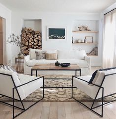 Modern Rustic Living Room Decor: A Rustic Modern Living Room Makeover Living Room Inspiration, Rustic Living Room, Living Room Scandinavian, Home And Living, Modern Rustic Living Room, Living Room Makeover, Living Decor, Room Makeover, House Interior