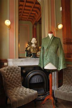 Green coat vest fancy