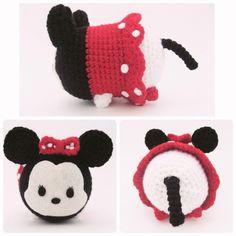Minnie Mouse Tsum Tsum ~ #amigurumi #crafts #crochet #Disney #DIY…