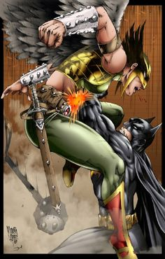 Batman vs Hawkman