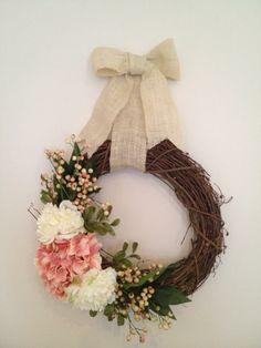 my new spring wreath