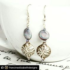 #Repost @francineelizabethdesigns  Fresh water pearl and hill tribe silver earrings available on my etsy site! #violet #silverearrings #pearlearrings #hilltribesilver #chic #etsy #etysfavorites #sterlingsilver #earrings #womensjewelry #womensearrings #classyearrings #elegant #dangleearrings #cursive #shells #ocean #summertime #forsale #gift #francinelizabethdesigns