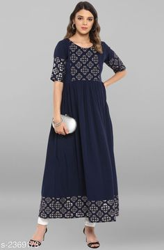 Checkout this latest Kurtis Product Name: *Women's Printed Crepe Anarkali Kurti* Fabric: Crepe Sleeve Length: Short Sleeves Pattern: Printed Combo of: Single Sizes: XS, S, M, L, XL, XXL, XXXL Country of Origin: India Easy Returns Available In Case Of Any Issue   Catalog Rating: ★4.2 (3363)  Catalog Name: Janasya Women Crepe Flared Printed Yellow Kurti CatalogID_316565 C74-SC1001 Code: 425-2369173-9921