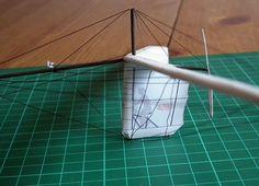 Mięśniolot Gossamer Albatross model kartonowy 1:72 http://mojeminiatury.waw.pl/gossamer-albatross-172/