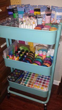 Raskog Paint Organization, Art Studio Organization, Paint Storage, Dream Art Room, Art Studio Room, Art Supplies Storage, Craft Room Design, Art Cart, Cute Room Ideas