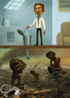 Mix 2013 Lipton, New York Lottery, Aircell by Andrey Gordeev, via Behance
