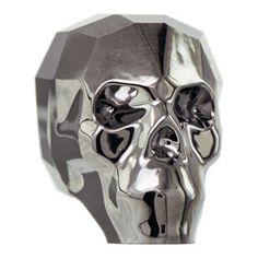 5750 13mm Crystal Silver Night 2x Swarovski Crystal Skull Bead | Fusion Beads