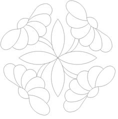 Button Daisy 1 x 4 535 Quilting Stencils, Quilting Templates, Machine Quilting Designs, Applique Templates, Applique Patterns, Applique Quilts, Applique Designs, Embroidery Applique, Quilt Patterns