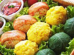 [요리고수의 도시락] 깻잎 주먹밥, 계란 주먹밥, 게맛살 주먹밥