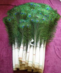 30 Piece Peacock Feather Bundle 4050 inches by DancingQueen2012, $40.00
