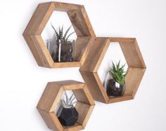 MEDIUM HONEYCOMB SHELF Honeycomb shelves Hexagon Shelves by GRAINandGRIT | Etsy
