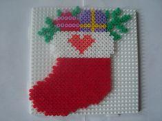 Christmas ornament hama perler by zabicra Perler Bead Art, Hama Beads, Fuse Beads, Fuse Bead Patterns, Perler Patterns, Beading Patterns, Christmas Perler Beads, Art Perle, Motifs Perler
